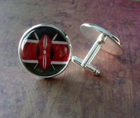 KENYAN,FLAG,Silver,Cufflinks//,National,Flag,of,KENYA,//,Father's,Day,Groomsmen,Gift,Wedding,//Patriotic,Accessories,Cuff_Links,Cufflinks,Groomsmen_Gift,Patriotic,National_Flag,World_Cup,Soccer,Football,Country,Kenyan_Flag,Kenya,Flag_Cufflinks,Unique_Gift