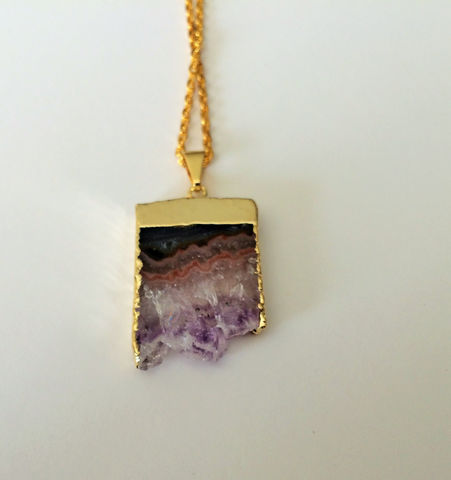 Gold,Framed,RAW,AMETHYST,Slice,NECKLACE,/,Stalactite,Pendant,Choose,Your,Stone,Amethyst,Druzy,Geode,February,Birthstone,Gift,Boxed,Jewelry,Necklace,raw_amethyst,amethyst_necklace,amethyst_crystal,amethyst_pendant,February_birthstone,natural_stone,purple,healing_properties,made_in_Canada,amethyst_stalactite,amethyst_druzy,amethyst_geode,gold_framed