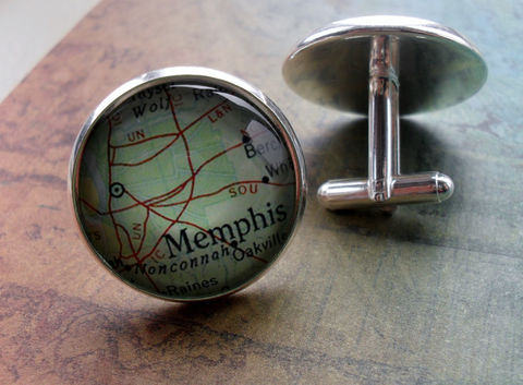 MEMPHIS,TENNESSEE,Map,Silver,Cufflinks,//,Father's,Day,groomsmen,gift,Christmas,Birthday,Anniversary,Gift,for,him,Weddings,Jewelry,Canadian,Hand_Made,Fathers_Day_Gift,Groomsmen_Gift,Gift_For_Him,Custom,City,Memphis,Tennessee,Unique_Gift