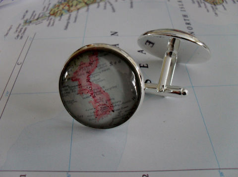 KOREA,Map,Silver,CUFF,LINKS,/,Father's,Day,groomsmen,gift,Personalized,Gift,for,him,jewelry,Boxed,Weddings,Jewelry,Canadian,Hand_Made,Cufflinks,Fathers_Day_Gift,Groomsmen_Gift,Custom,Gift_For_Him,Korea,Country,Wedding,Unique_Gift
