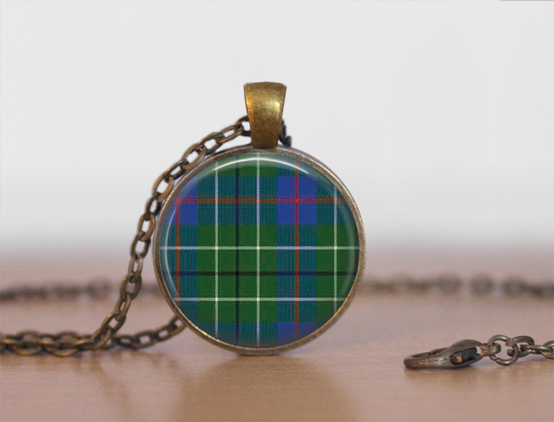 DUNCAN TARTAN Pendant Necklace / Scottish Tartan Jewelry / Ancestral Jewellery / Duncan Clan /  Family Jewelry / Personalized Gift / boxed - product images