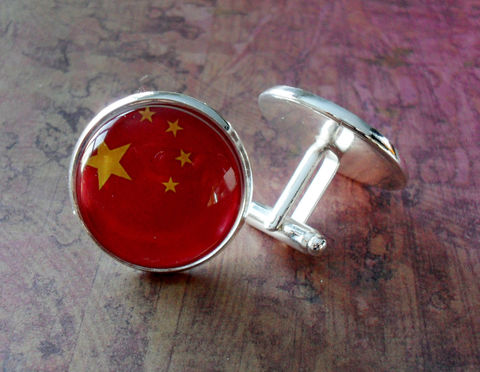 CHINESE,FLAG,Silver,Cufflinks,//,National,Flag,of,CHINA,Father's,Day,Groomsmen,Gift,Wedding,Patriotic,Cuff,Links,Boxed,Accessories,Cuff_Links,Groomsmen_Gift,National_Flag,Soccer,Football,Olympics,Chinese_Flag,China,China_Cufflinks,Flag_Cufflinks,Unique_Gift