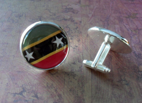 ST.,KITTS,&,NEVIS,flag,Silver,Cufflinks,//,National,Flag,of,St.,Kitts,Father's,Day,Groomsmen,Gift,Wedding,Patriotic,Box,Accessories,Cuff_Links,Groomsmen_Gift,National_Flag,World_Cup,Fan_Wear,Country,St_Kitts,Nevis,Flag_Cufflinks,Country_Cufflinks,Unique_Gift