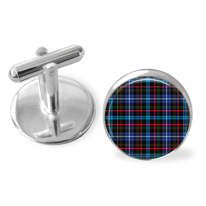 KENNEDY TARTAN CUFFLINKS / Scottish Tartan Cuff Links / Tartan Jewelry / Personalized Gift for Him / Ancestral Jewelry / Kennedy Clan - product image