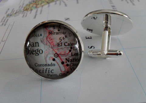 SAN,DIEGO,California,Map,Silver,CUFFLINKS,/,Father's,Day,Groomsmen,Gift,Cuff,links,Vintage,map,cufflinks,jewelry,Boxed,Weddings,Jewelry,Canadian,Cufflinks,Vintage_Map,Fathers_Day_Gift,Groomsmen_Gift,San_Diego,Wedding,Map_Cufflinks,Unique_Gift,map_jewelry