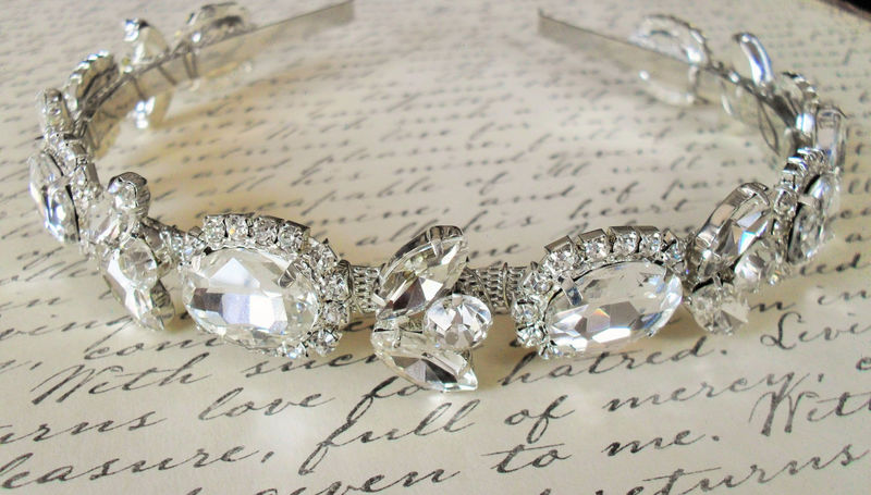 BRIDAL RHINESTONE HEADBAND // Wedding // Rhinestone Headpiece // Crystal Headband // Hair Accessory // Bridal Headpiece - product image