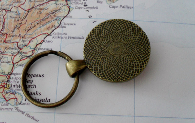 ABERDEEN SCOTLAND Map KEYCHAIN / Aberdeen Keychain / Travel Souvenir / Custom Map Key Chain / Map jewelry / Personalized Gift / Gift Boxed - product image