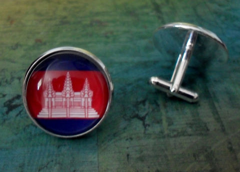 CAMBODIAN,FLAG,Silver,Cufflinks,//,National,Flag,of,Cambodia,Father's,Day,Groomsmen,Gift,Wedding,Patriotic,Cuff,Links,/,box,Accessories,Cuff_Links,Fathers_Day_Gift,Groomsmen_Gift,Glass_Domed,National_Flag,Cufflink,Cambodian,Flag_Cufflinks,Country_Cufflinks,Unique_Gift,cuff_links