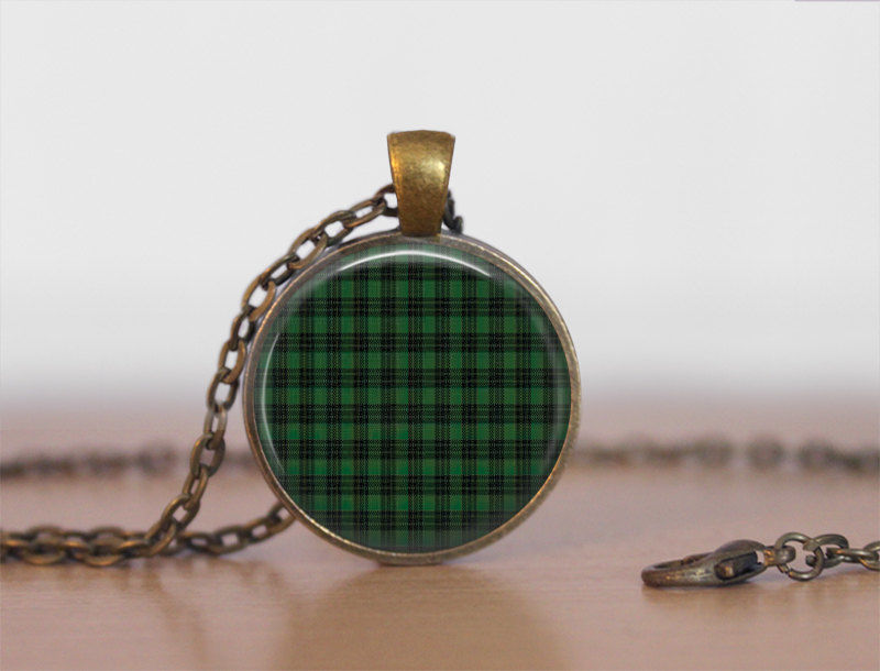 GRAHAM TARTAN Pendant Necklace / Scottish Tartan Jewelry / Ancestral Jewellery / Graham Clan /  Family Jewelry / Personalized Gift / boxed - product images
