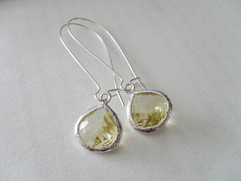 CITRINE,YELLOW,EARRINGS,/,Pale,Yellow,Drop,Earrings,Faceted,Glass,Silver,Dangle,Bridesmaid,Simple,Citrine,Gift,Box,Weddings,Jewelry,Wedding,Nickel_Free,Faceted_Glass,White_Gold,Pale_Yellow,Citrine_Earrings,Yellow_Earrings,Citrine_Yellow,Unique_Gift