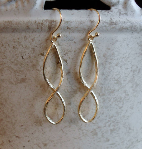 GOLD,INFINITY,EARRINGS,//,Bridal,Love,Texured,matte,gold,Dangle,Earrings,Wedding,Unique,gift,for,her,anniversary,Jewelry,Nickel_Free,Simple,Gold,Hypoallergenic,Delicate,Matte_Gold,Infinity,Figure_8,Infinity_Earrings,Infinity_Symbol,Anniversary_Gift