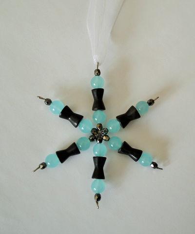 Beaded,SNOWFLAKE,ORNAMENT,/,Malaysian,jade,,,vintage,french,jet,&,crystal,beads,Suncatcher,Christmas,Hostess,Gift,Winter,Home,Decor,Housewares,Home_Decor,Hand_Made,Canteam,Unique_Gift,one_of_a_kind,snowflake_ornament,beaded_snowflake,gift_for_teacher,snowflake_suncatcher,hostess_gift,wine_bottle_charm,winter_home_decor,Christmas_ornament,jade_french_jet