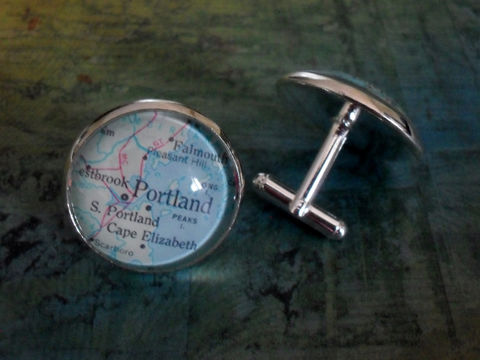 PORTLAND,MAINE,Map,Silver,Cufflinks,/,Portland,cuff,links,Father's,Day,personalized,groomsmen,gift,map,jewelry,Gift,for,him,Weddings,Jewelry,Canadian,Fathers_Day_Gift,Groomsmen_Gift,Gift_For_Him,Wedding,Map_Cufflinks,Unique_Gift,Portland_cufflinks,Portland_Maine_map,custom_map_cufflinks,map_jewelry