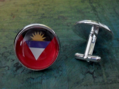 ANTIGUA,and,BARBUDA,Flag,Silver,Cufflinks,//,Father's,Day,Groomsmen,Gift,Wedding,Patriotic,Cuff,Links,flag,jewelry,Boxed,Accessories,Cuff_Links,Canadian,Hand_Made,Fathers_Day_Gift,Groomsmen_Gift,National_Flag,Antigua_Barbuda,Map_Cufflinks,Flag_Cufflinks,Country_Cufflinks,Unique_Gift