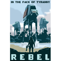 Rebel in the Face of Tyranny - 12x18 POPaganada Print - product images  of