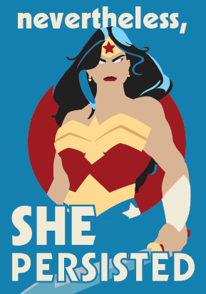 She,Persisted,2x3,Magnet,nevertheless she persisted,warren,wonderwoman,US