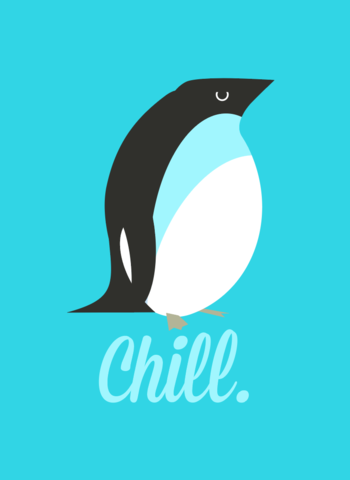 Chill,Penguin,2x3,Magnet,penguin,chill,funny,cold,fridge