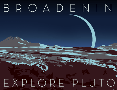 Pluto's Horizons Space Travel 12x36 POPaganda print - product images  of