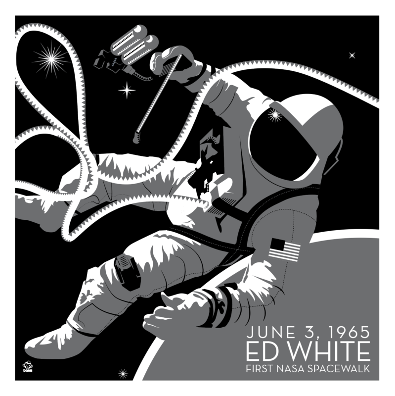 NASA Spacewalk Ed White - 10x10 Giclee Print - product images
