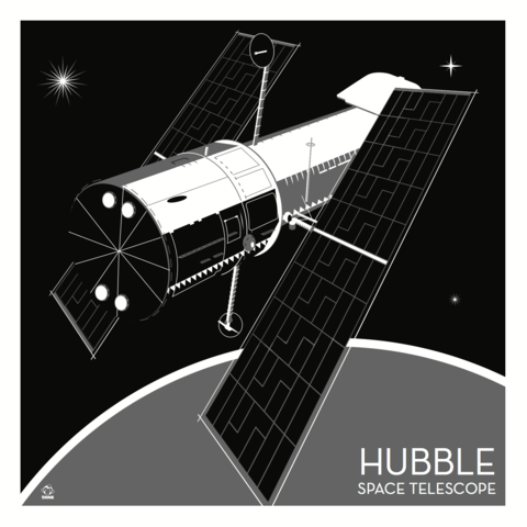 Hubble,Telescope,Nasa,-,10x10,Giclee,Print,space,science,nasa,vector,print,hubble,telescope