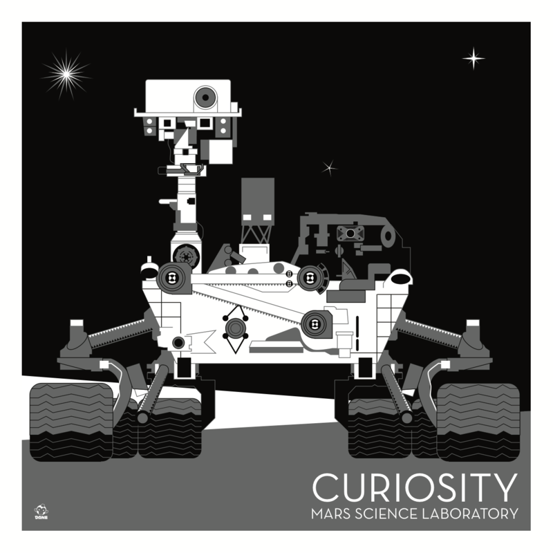 Curiosity Mars Laboratory Nasa Rover - 10x10 Giclee Print - product images