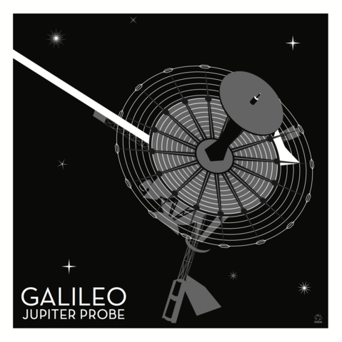 Galileo,Jupiter,Nasa,Probe,-,10x10,Giclee,Print,space,science,nasa,probe,vector,print