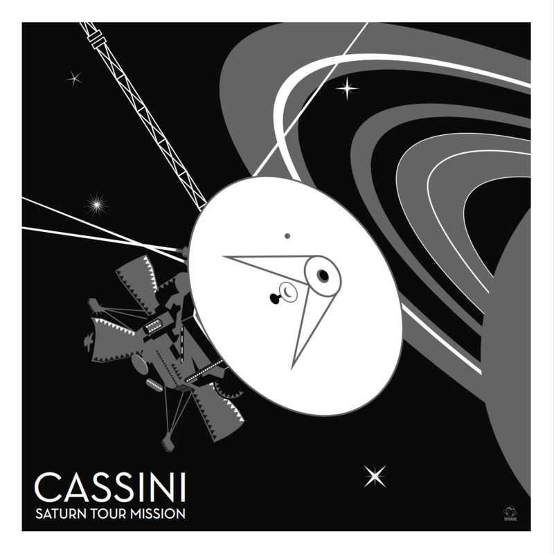 Cassini Saturn Probe 10x10 Giclee Print - product images