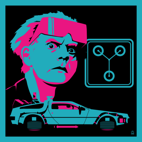 Great,Scott,2015,-,BTTF2,8x8,Giclee,Art,Print,bttf,backtothefuture,docbrown,daneault,art,80s