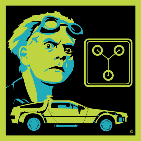 Great,Scott,1955,-,BTTF,8x8,Giclee,Art,Print,bttf,backtothefuture,docbrown,daneault,art,80s