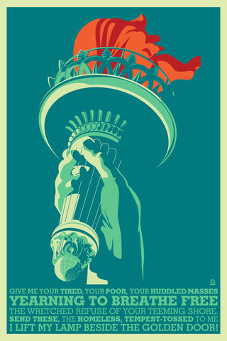 Liberty's,Lamp,12x18,Ltd,ed,Giclee,Print,print,giclee,Liberty,freedom,America,golden lamp,torch