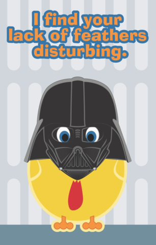 Vader,Cluck,Cosplay,Chicken,2x3,Magnet,chicken,Clucky,cosplay,metropolis,StarWars,darth vader