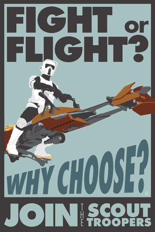 Fight or Flight Scout Trooper - 12x18 POPaganada Print - product images  of