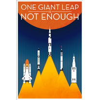 One Giant Leap NASA-Inspired - 12x18 POPaganada Print - product images  of