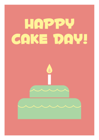 CAKE,DAY,Geeky,Greeting,Card,geek,Nerd,greeting card,cake,birthday,card,retro