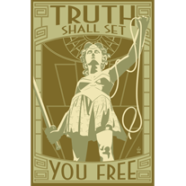 Truth Shall Set You Free Wonder Woman - 12x18 POPaganada Print - product images  of