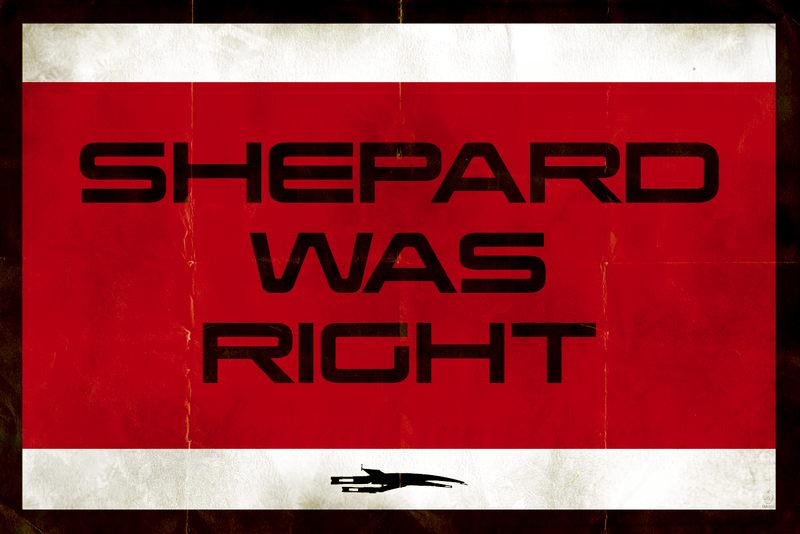 SHEPARD WAS RIGHT - 12x18 POPaganda Print - product images  of