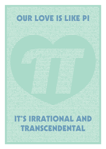 Love,is,Pi,Geeky,Greeting,Card,card,geek,Nerd,math,pi,geeky greeting,numbers
