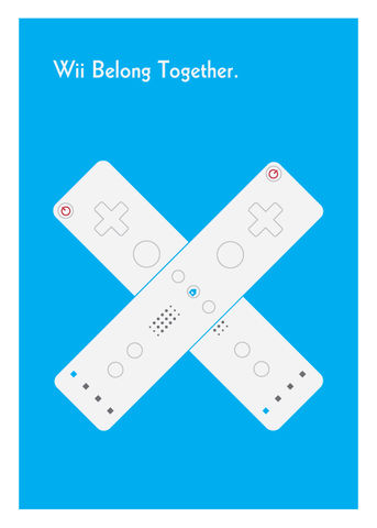 Wii,Belong,Together,Geeky,Greeting,Card,card,geek,Nerd,cute,geeky greeting,wii,gamer,Love