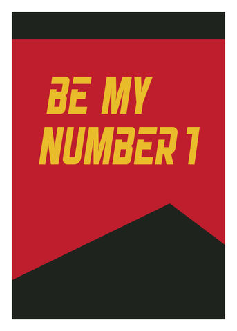 Be,My,Number,1,Geeky,Greeting,Card,card,geek,geeky,greeting card,Nerd,picard,star trek