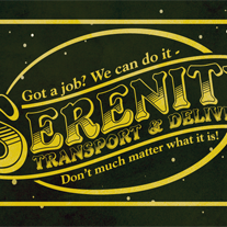 Serenity,Transport,&,Delivery,2x3,Magnet,Design,firefly,geek,Nerd,serenity,space,western,whedon