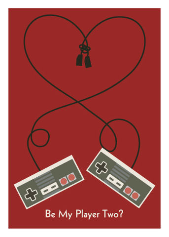 Be,My,Player,2?,Geeky,Greeting,Card,geek,Nerd,card,nintendo,gamer,geeky greeting,player 2