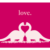 Dino,Love,Geeky,Greeting,Card,dinosaur,geek,Nerd,card,valentine,geeky greeting