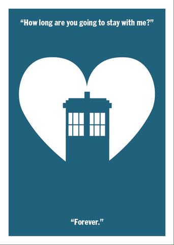 Forever,Doctor,Geeky,Greeting,Card,Love,geek,Nerd,doctor,greeting card,who,tardis,forever