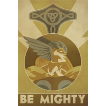 BE MIGHTY - 12x18 POPaganada Print - product images  of