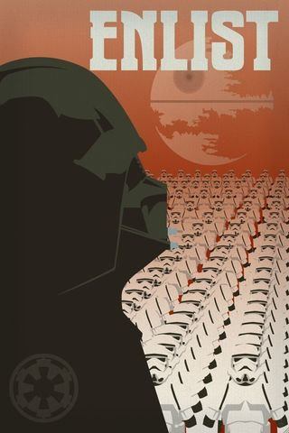 Enlist,in,the,Empire,Print,star,wars,vader,stormtrooper,enlist,army,clone,death,space,ship,station