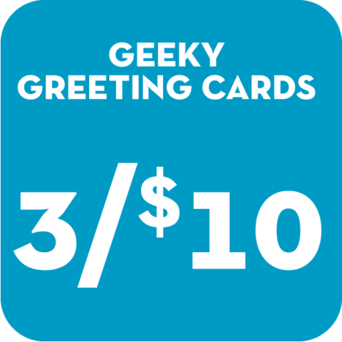 3,for,$10,Geeky,Greeting,Cards,geek,games,Nerd,greeting cards,dr. who,geeky greetings