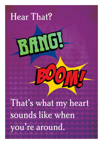 BOOM,BANG,Geeky,Greeting,Card,geek,Nerd,comic,bang,boom,geeky greeting,SFX