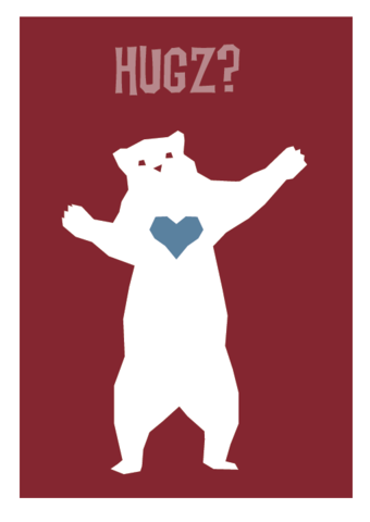 Bear,Hugz,Geeky,Greeting,Card,cute,Heart,geek,Nerd,bear,Internet,hug,meme,LOL