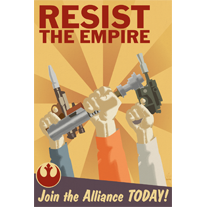 Resist The Empire Rebel Aliance Propaganda - 12x18 Print - product images  of