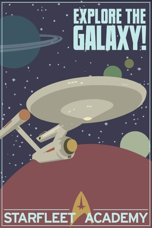 Explore The Galaxy Star Trek 12x18 Print - product images  of